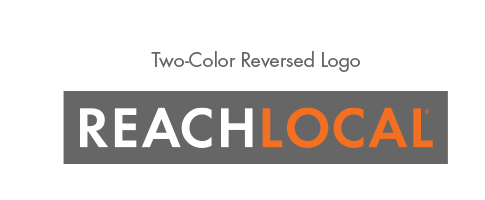 ReachLocal Logo: Two Color Reversed Web & Print
