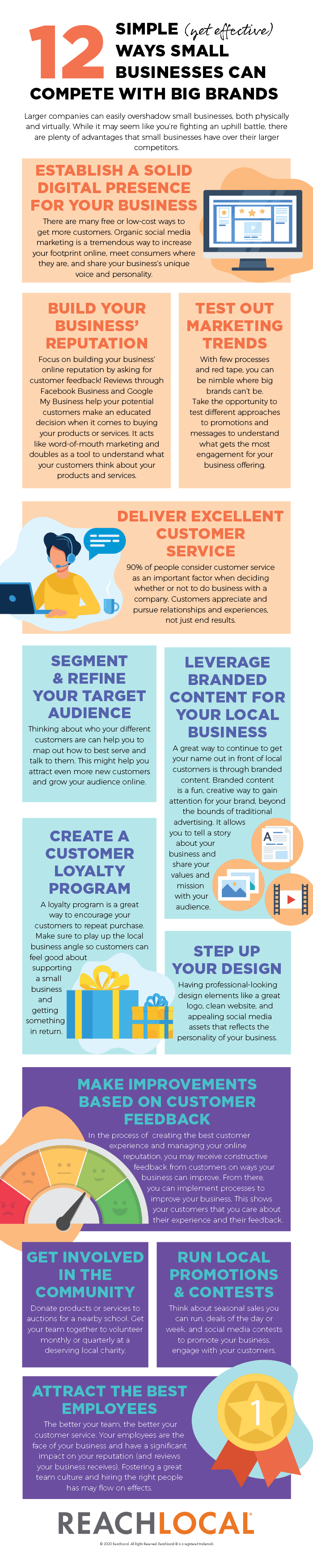 12 ways small businesses can compete with big brands infographic by ReachLocal