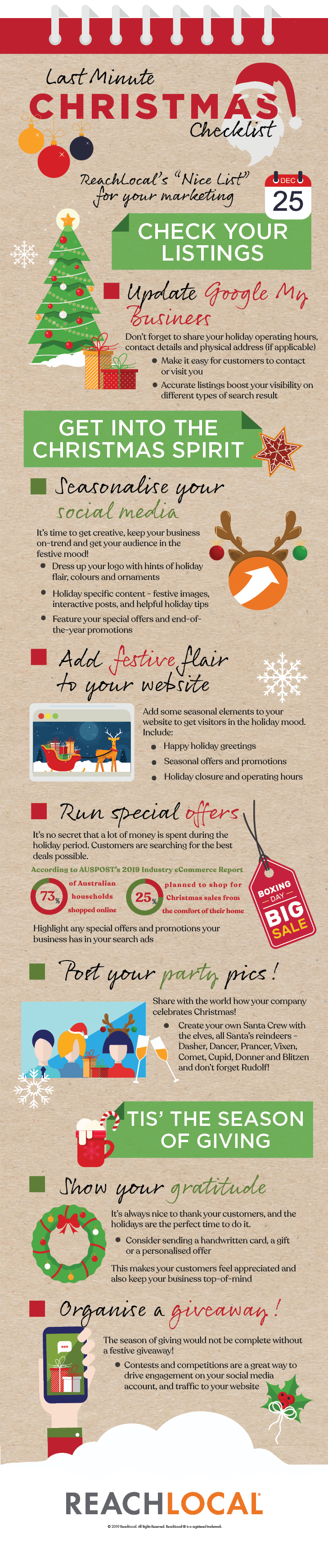 ReachLocal Infographic: Last-Minute Christmas Marketing Checklist