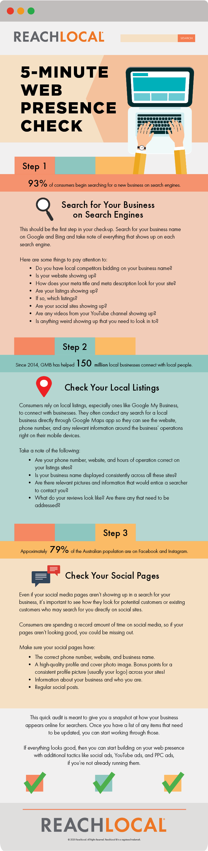 ReachLocal Infographic 5-Minute Web Presence Check