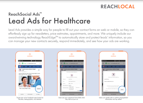 ReachLocal Lead Ads for Healthcare