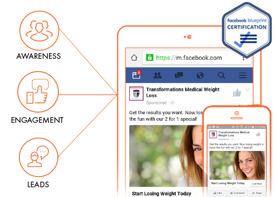 Complete Facebook advertising service from Facebook certified professionals