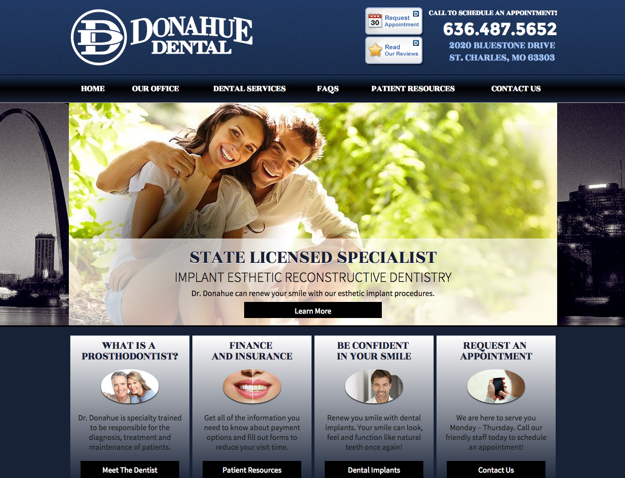 St. Louis Dentist Located in St. Charles - Donahue Dental