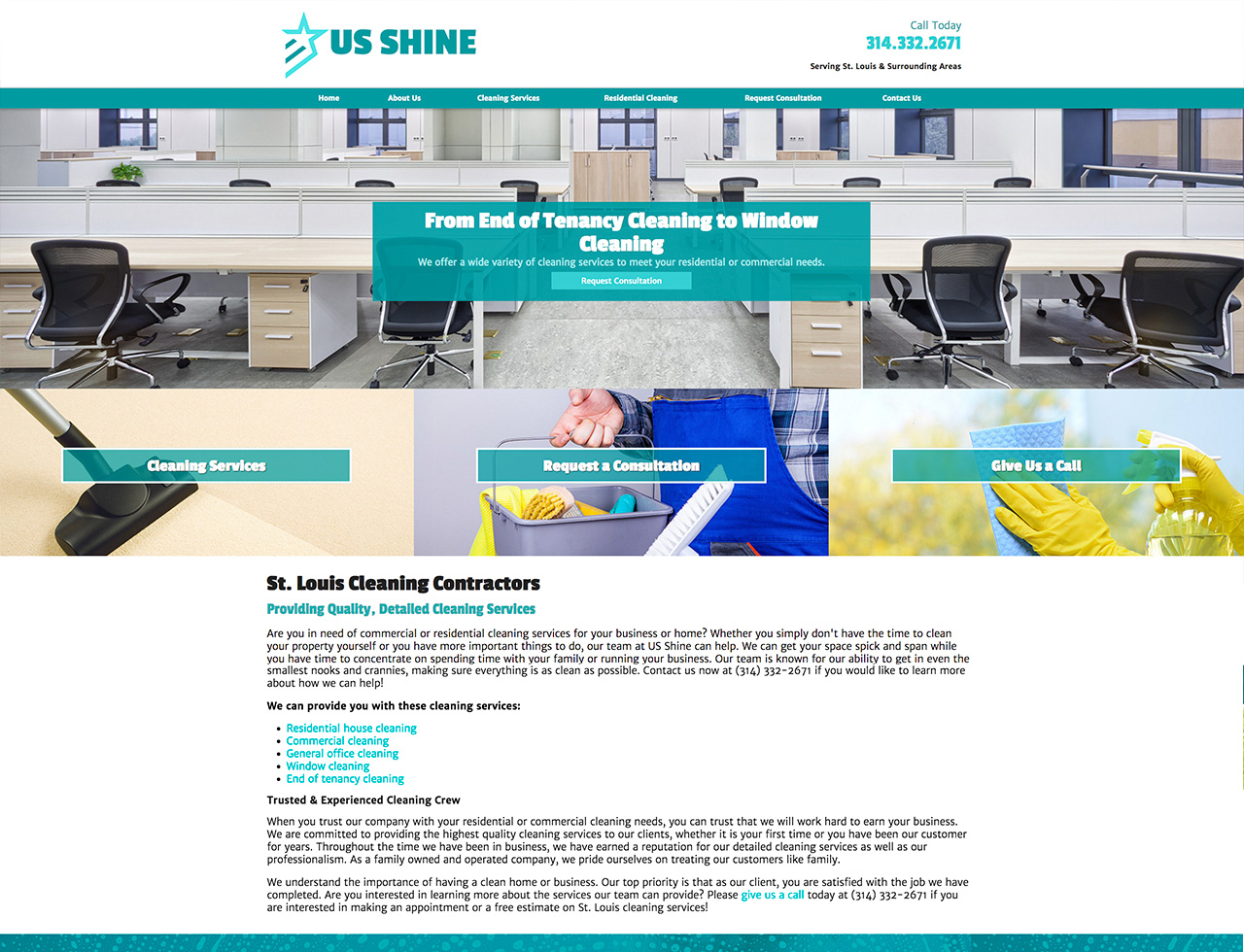 US Shine, Desktop View