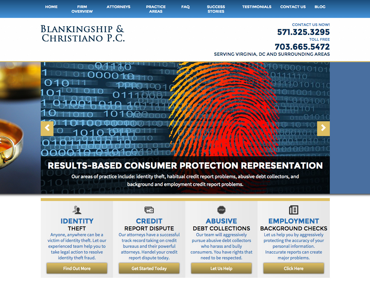 Washington DC Identity Theft Attorneys Located in Reston - Blankingship & Christiano P.C.