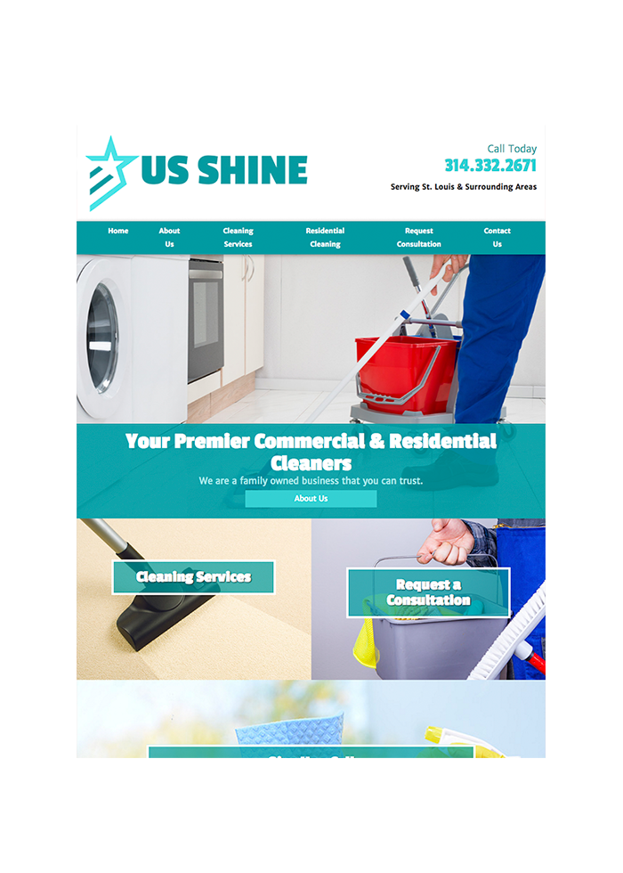 US Shine, Tablet View