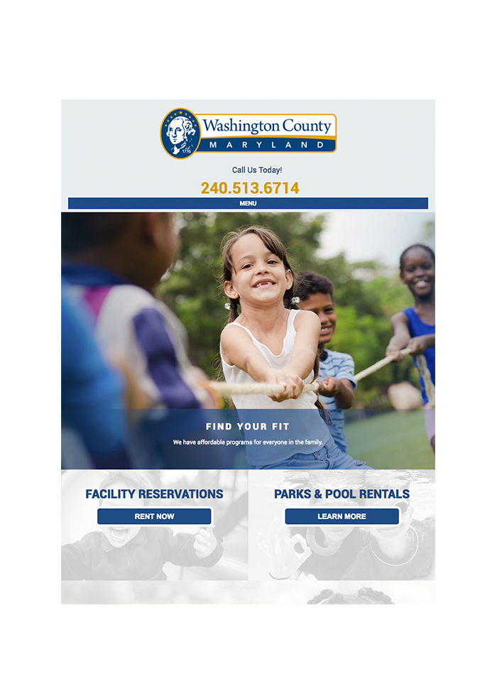 Washington County Recreation Department, Tablet View